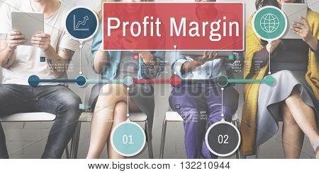 Profit Margin Finance Income Sales Revenue Accounting Concept