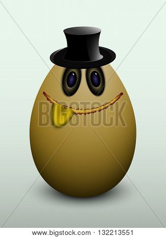 Egg. Working In The Hat.