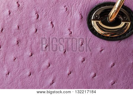 Detal violet Ostrich-Embossed leather handbags texture close-up