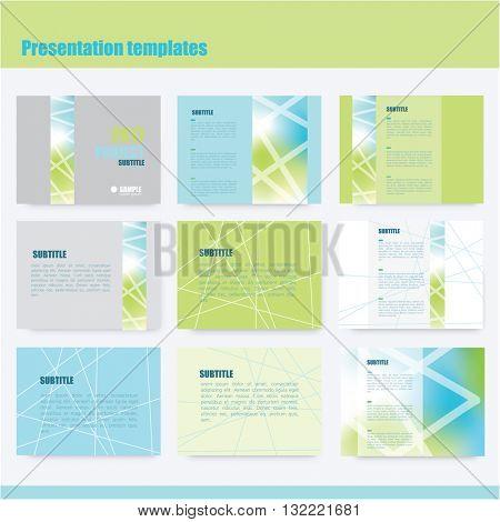 Annual report cover, brochure template design