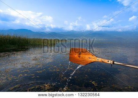 Are rowing boat OARS, old wooden OARS