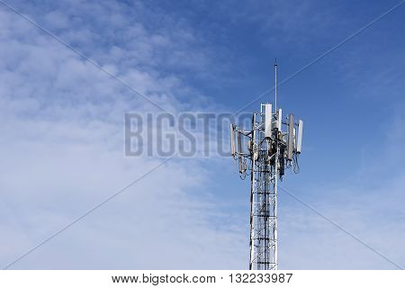 antenna tower of the radio staion antenna tower for telecommunication