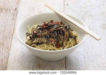 scallion oil noodles, Chinese Shanghai food