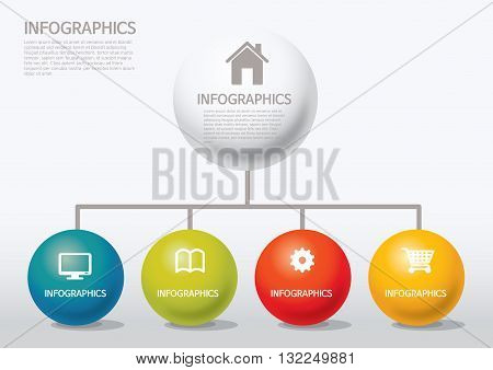 Vector Illustration:   info-graphic - sphere style - chart