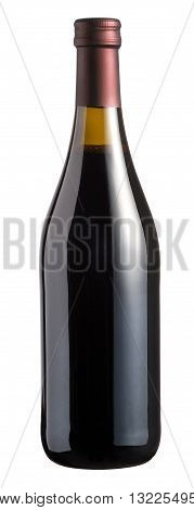 Sealed Corked Unlabelled Bottle Of Red Wine