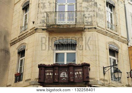 Valence France - april 13 2016 : an iron Bastille on a building