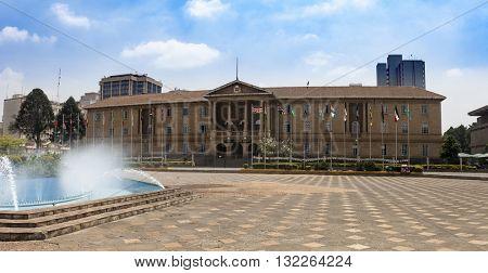 Judiciary building in Nairobi, Kenya