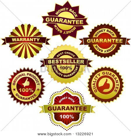 Vector collection of sale labels
