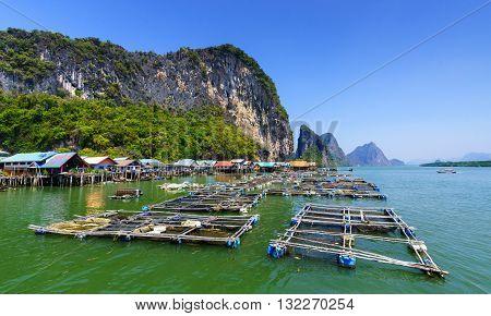 Koh Panyee Fisherman village Phang Nga Ao Phang Nga National Park Thailand