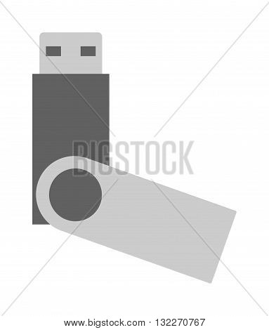 Flash memory drive card isolated on white background. Memory flash usb drive isolated vector icon illustration. Flash drive isolated vector. Flash drive isolated silhouette. Flash drive vector illustration.