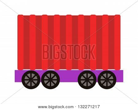 Vector train cargo wagon, freight car tank. Freight car transportation train cargo and railroad freight car wagon industry. Container industrial goods vehicle freight car.