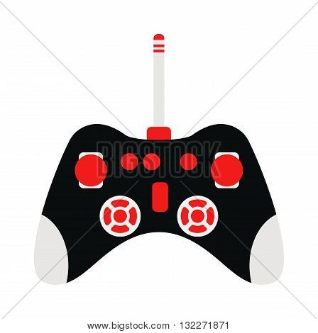 Game console joystick vector illustration. Game console joystick isolated on white background. Game console joystick vector icon illustration. Game console joystick