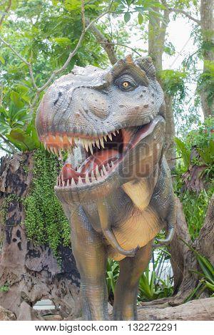 Tyrannosaurus rex in the public park Thailand.