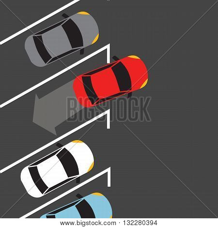 car parking from top above find space automatic sensor vehicle vector