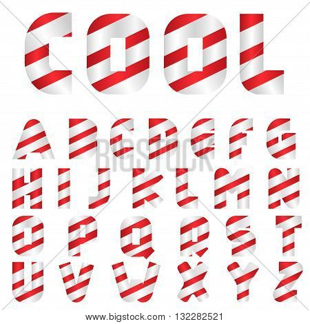 Candy letters. Sweeties, Tasty letters Striped alphabet