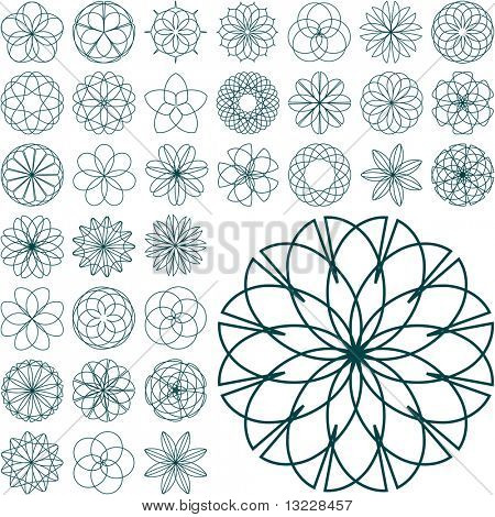 Graphic elements set. Vector illustration.