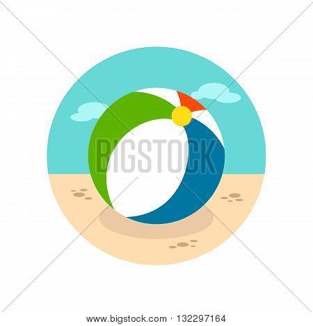 Beach Ball vector icon. Beach. Summer. Summertime. Vacation eps 10