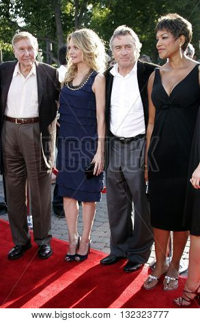 Sumner Redstone, Michelle Pfeiffer and Robert De Niro at the Los Angeles premiere of 'Stardust' held at the Paramount Pictures Studios in Hollywood, USA on July 29, 2007.