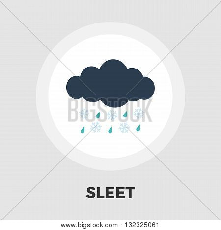 Sleet icon vector. Flat icon isolated on the white background. Editable EPS file. Vector illustration.