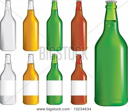 Set Of Beer Bottles