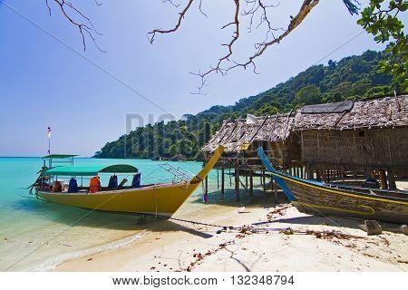 Islander's Morgan Sea Gypsy Hut Surin Island Pheang-gnaThailand