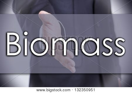 Biomass - Business Concept With Text