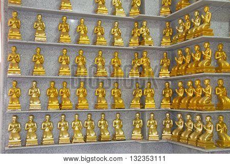 Phra buddha mongkhon maharaj; The largest standing buddha Statue in southem region. Hatyai Songkhla Thailand.