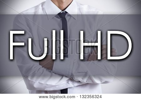 Full Hd - Young Businessman With Text - Business Concept