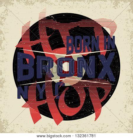 Vintage typography, grunge t-shirt graphics, teeshirt print design, vector