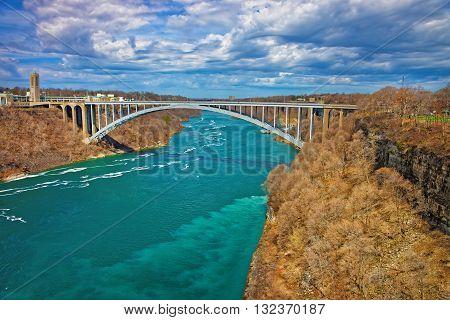 International Rainbow Bridge Above The Niagara River Gorge