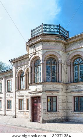 Facade Of An Old House In Ventspils In Latvia