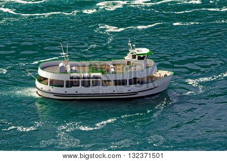 Ferry In The Waters Of The Niagara River