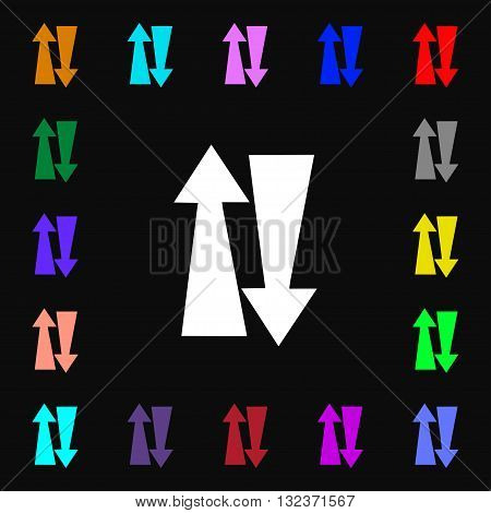 Two Way Traffic, Icon Sign. Lots Of Colorful Symbols For Your Design. Vector