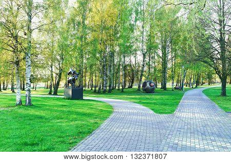 Jurmalas Park In Ventspils In Latvia