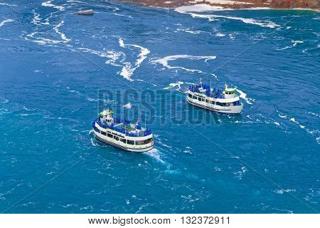 Two Ferries In The Niagara River