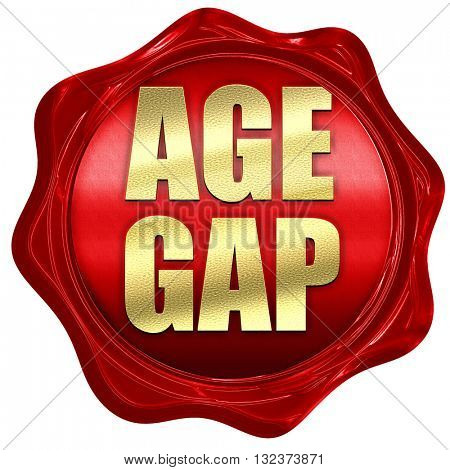 age gap, 3D rendering, a red wax seal
