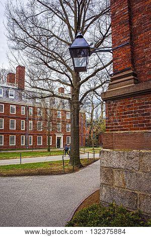 Dormitory At Harvard Yard Of Harvard University