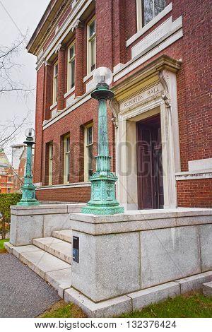 Robinson Hall In Harvard Yard In Harvard University In Cambridge