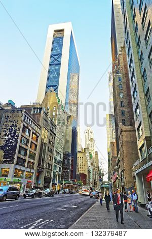 Sixth Avenue And West 57Th Street Of Midtown Manhattan