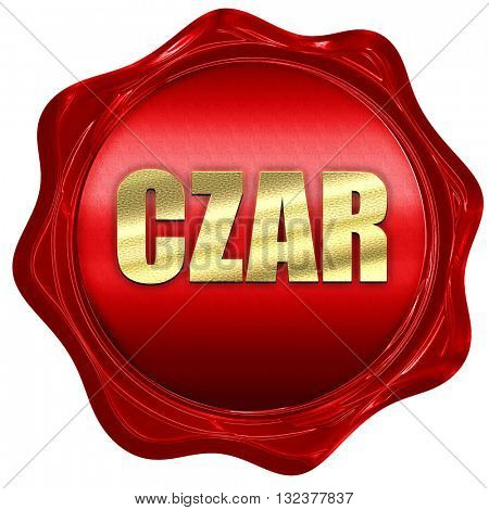 czar, 3D rendering, a red wax seal