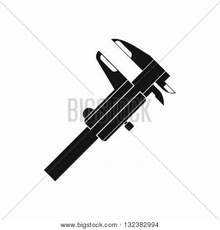 Calipers icon in simple style isolated on white background