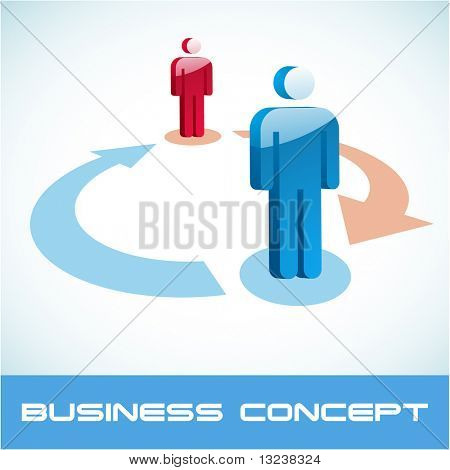 Team business concept. Vector illustration.