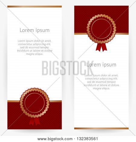 Stylish white-and-vinous background with place for stamp with logo