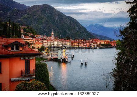 Lago di Como (Lake Como) Menaggio at blue hour