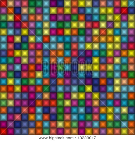 Seamless multicolor gradient squares background
