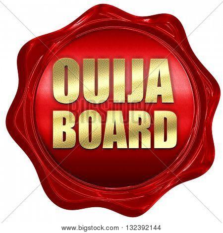 ouija board, 3D rendering, a red wax seal