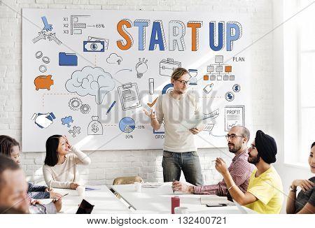 Startup New Business Launch Development Concept