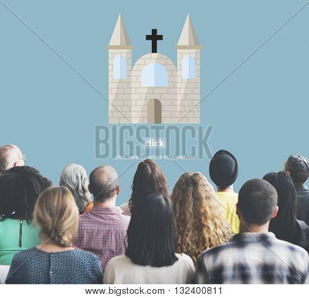 Church God Believe Jesus Pray Concept