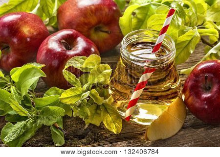 fresh juice made from organic and healthy apples