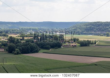 Landscape view of France's lush Dordogne region